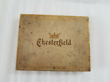 VINTAGE CHESTERFIELD 50 CIGARETTES GOLDTONE TIN METAL BOX