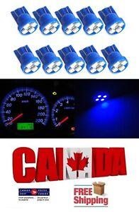 10x Blue T10 194 168 1W 4SMD LED Side Lamp Wedge Turn Light Bulb DRL Car