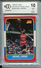 1986 Fleer Basketball Michael Jordan Rookie Card BCCG 10 RC Replicate 96 Decade