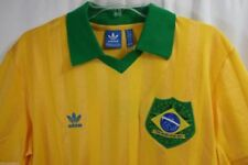 Brazuca Brazil World Cup 2014 BNWT Adidas Originals Retro Shirt M Yellow/Green
