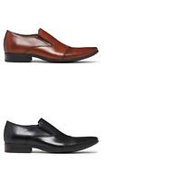 Mens Julius Marlow Bernie Leather Black Coffee Brown Slip On Dress Work Shoes