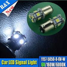 10x New1157-5050 8Smd Led White Car 160Lm Brake/Stop/Tail/Reverse Light 6V 6000K