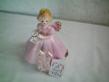 "Vintage Josef Original Birthday ""The Eleventh Year"" Glass Figurine Japan w/Tag a"