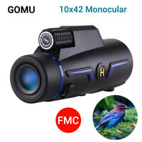 GOMU Handheld 10X 42mm Monocular Binocular BAK-4 for Bird Watching Hiking Animal