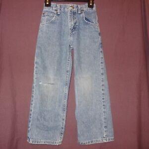 Blue Jeans Denim Boys Size 6 Regular Ripped Knee Adjustable Waist Lee