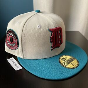 New Era Detroit Tigers 7 1/8 Off White Not Hat Club Myfitteds Capsule 2tone