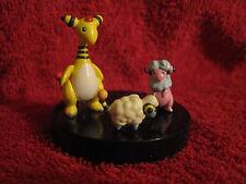 3 Pokemon Figure/Zukan:Voltilamm+Waaty+Ampharos(Mareep,Flaafy)gebraucht/Figures