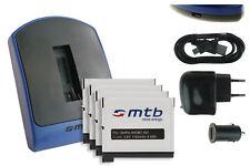 Chargeur (USB) + 4x Batterie AHDBT-401 / AHDBT401 pour GoPro Hero 4