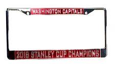 Washington Capitals 2018 Champions SD LASER FRAME Chrome Metal License Plate Tag