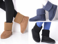 """Unbranded Flat (less than 0.5"""") Knitted Boots for Women"""