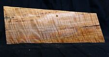 Gorgeous 5A curly ash flame figured maple guitar top blank tele tonewood #53