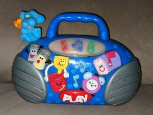 Blues Clues Light Up Radio Boombox Plays Songs Mattel 2000 TESTED READ Rare Toy