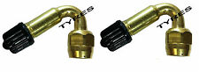 MOTORCYCLE 2 X 45 DEGREE BRASS ANGLED TYRE VALVE EXTENSION BIKE MOTORBIKE