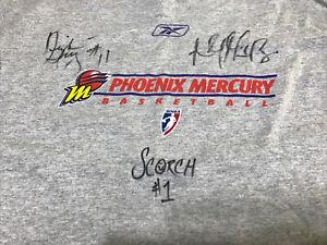 Phoenix Mercury Signed Reebok T-Shirt Niele Ivey Ashley Robinson WNBA 2005