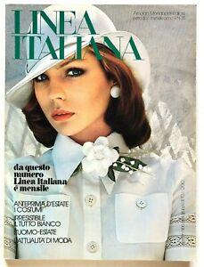 Linea Italiana n. 35 Aprile 1973 Rivista moda vintage Costumi da bagno Missoni