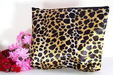 Kosmetiktäschchen Kulturtäschchen Make-up-Täschchen Leopard  (19 x 17cm)