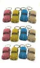 "12PC Box: 2.5"" Kinsmart 1967 VW Beetle Pastel Keychain Diecast Model Car 1:64"