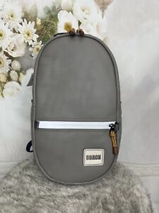 Coach Unisex Pacer Smooth Leather Heather Grey Backpack With Patch 78829 $395