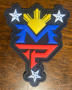 Manny Pacquiao MP Philippines Filipino flag patch PVC Plastic BOXING PaTch