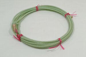 """Rope - Kid's - 5/16"""" x 20' - Green - Waxed Nylon (E458)"""