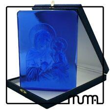 Icona vetro Murano formella figura Maternità, Maria con bambino Gesù.