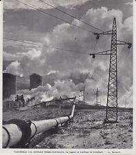 1956  --  ITALIE  LA CENTRALE THERMO ELECTRIQUE  3J399