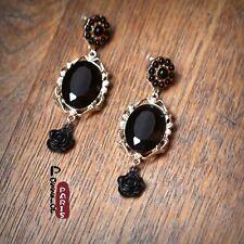 Boucles d`Oreilles Mini Perle Goutte Noir Clou Baroqu Style Original Cadeau BB 3