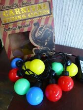 NEW Temerity Jones Carnival Party Battery Large colored ball globe circus lights