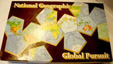 Global Pursuit 1987 Board Game National Geographic Complete VINTAGE & RARE