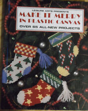 Make It Merry in Plastic Canvas 1995 Christmas holiday pattern chart hardcover
