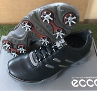 New Men's ECCO Golf Biom Golf Shoes.  Size 6-6.5 (40) Black/Steel 131024-50598