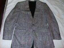 Burberry 100% Silk Woven Tweed Like Black White & Red Sport Coat Blazer 38R MED
