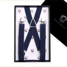 Men's Midnight Blue X2.5cm Braces