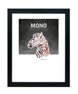 Ultimat Frames Mono Style  Solid Wood Photo/Picture Readymade Frame - Black