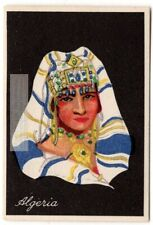 Algeria Young Woman Traditional Arabian Dress Clothing 1920s Trade Ad Card