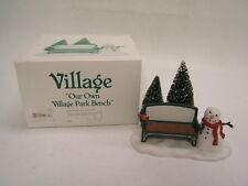 "Dept 56 Heritage Village ""Our Own Village Park Bench"" #2211 Porcelain Mib"
