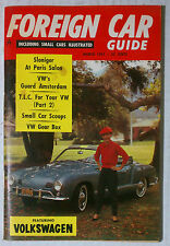 FOREIGN CAR GUIDE VW VOLKSWAGEN MAGAZINE 1961 MARCH BUG BUS KARMANN BEETLE