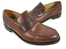 BLACKSTONE MEN'S ROLAND CASUAL LOAFER BROWN LEATHER EUR 44/ US SZ 10-10.5 MEDIUM
