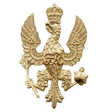 Official Kings Royal Hussars  All Ranks Cap  Badge ( Beret Bead gilt & burnished
