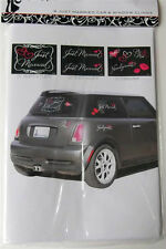 Wedding  JUST MARRIED CAR  & WINDOW CLINGS  8 Pieces
