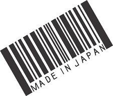 Made In Japan Barcode Sticker -JDM honda vinyl decal V2