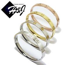 Men's Women's Stainless Steel 8mm Gold/Silver/Rose Gold Bangle/Handcuff Bracelet