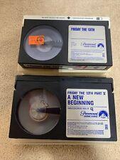 Friday the 13th & Friday the 13th  part V  Beta/Betamax horror Slasher Rare