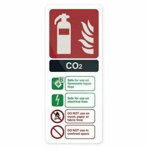 Fixman 827074 CO2 EN3 Fire Extinguisher Sign 202 x 82mm PL
