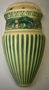 """Roseville Corinthian Wall Pocket. 9"""" Tall. Multi-Colored c. 1923. Excellent"""