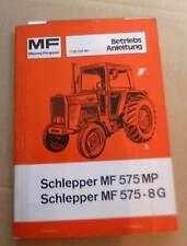 Massey Ferguson Schlepper 575 Betriebsanleitung