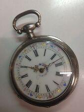 Montre Gousset Ancienne Argent Cr.cie Rudelle À Cransac silver pocket watch