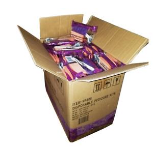 200 Purple Disposable Pedicure Kits  (Pumice-Buffer-File-Pusher) NF409