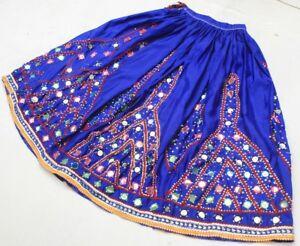 Ethnic Banjara Belly Dance Embroidery Gypsy Tribal Boho India Kuchi Rabari Skirt