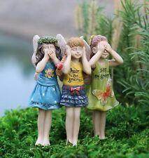 Miniature Dollhouse FAIRY GARDEN - No Gnomes Trio - Accessories